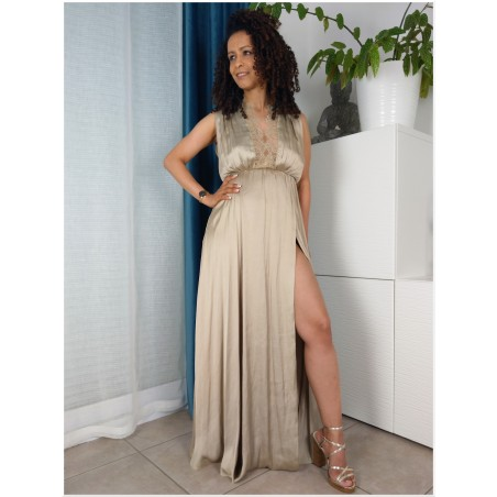 RO000000023 Robe longue couleur champagne Dresses CHF120.00